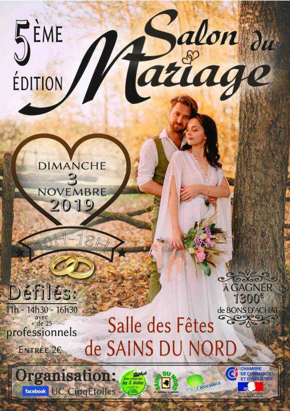 Joveniaux graphiste affiche salon du mariage sains du nord photographe de mariage