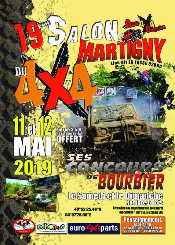 Joveniaux graphiste salon du 4x4 martigny flyer aisne 4x4 evolution