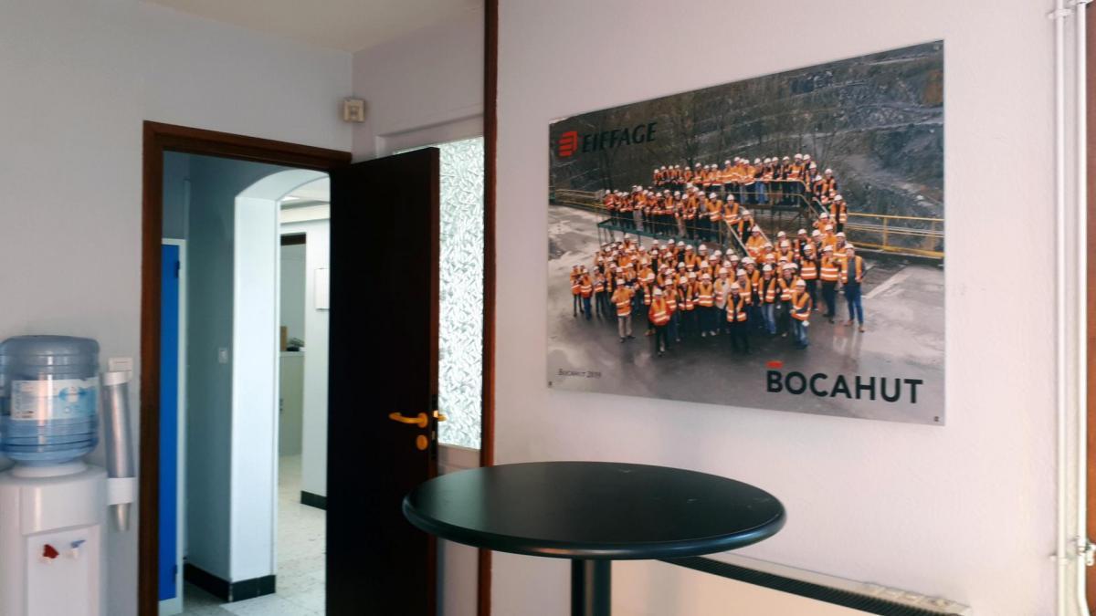 Joveniaux photographe eiffage bocahut reportage photographique panneau aluminium