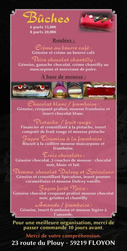 Joveniaux studio reveries numeriques flyers noel l atelier de la gourmandise adeline allaire siro floyon patisseries petits fours imprimerie recto