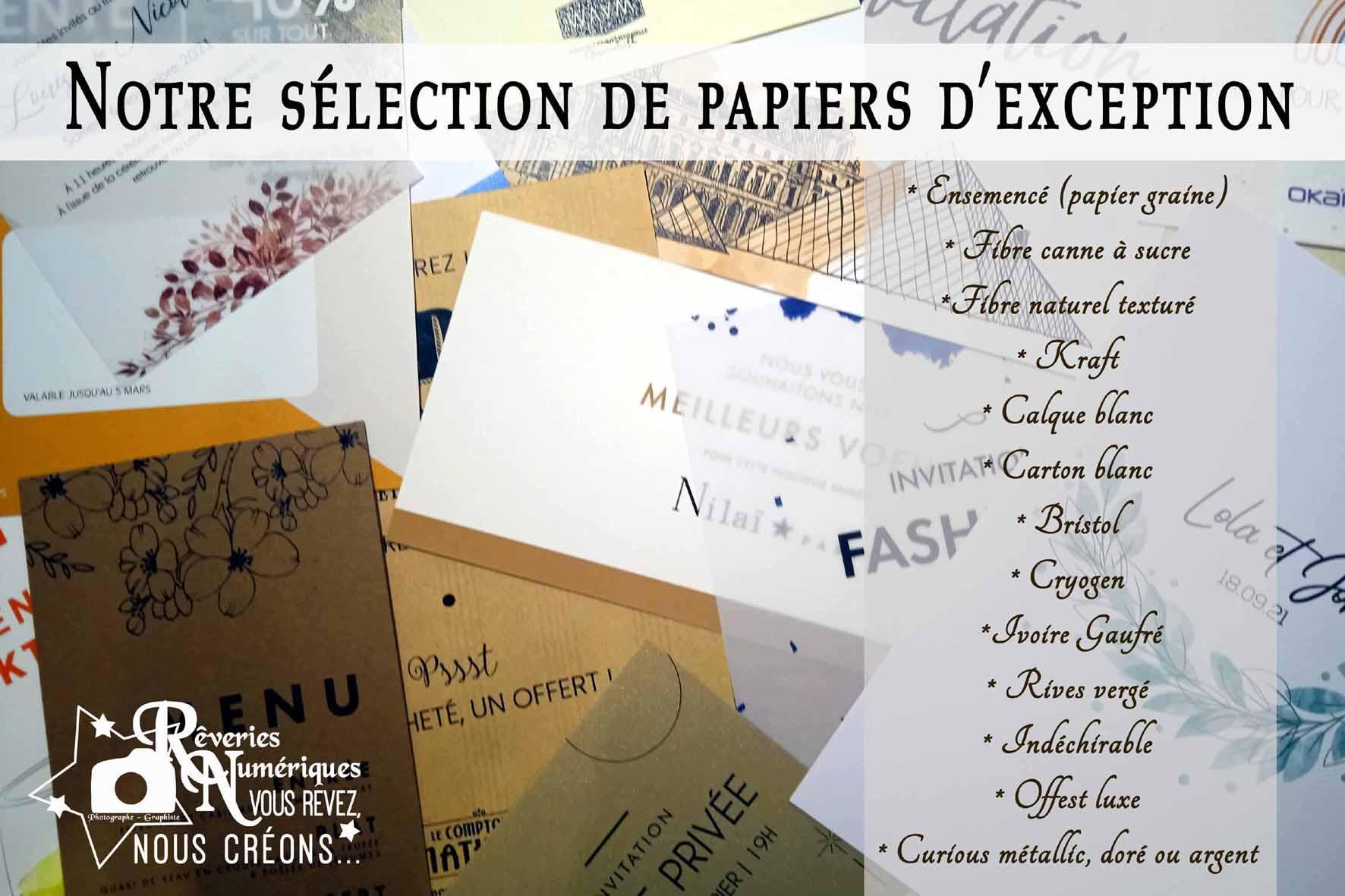 Selection de papier